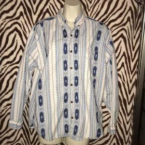 Vintage Bugle boy southwestern pattern button down